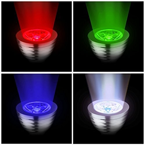 pack 4pcs gu10 rgb color changing led light bulb lamp with remote. Black Bedroom Furniture Sets. Home Design Ideas