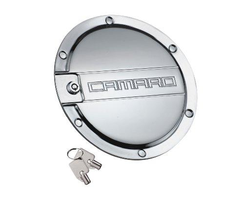 DefenderWorx CP-1006 Polished Locking Fuel Door for Chevrolet Camaro (Defenderworx Camaro compare prices)