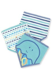 3 Pack Pure Cotton Sea Dribble Bibs