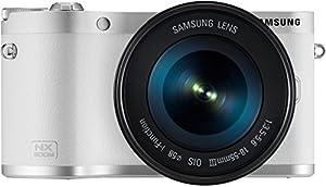Samsung NX300M + 18-55 OIS i-Function + SEF-8A Appareil Photo Numérique Compact 20.3 Mpix Wi-Fi Blanc