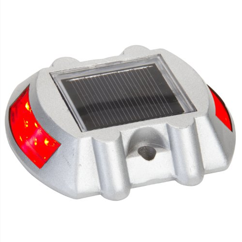 Solar Road Path Deck Dock Warning Lights With Red Leds