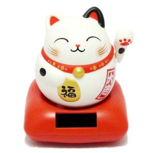【今しか買えない】 まるまるソーラー幸せ招き猫・浅草限定カラー(三毛) 高さ13cm 開店祝いの贈り物にオススメ。