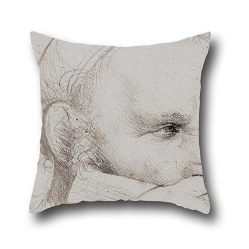 Oil Painting Hans Holbein The Elder - The Head Of A Crossbowman Taking Aim Pillowcase 20 X 20 Inches / 50 By 50 Cm Best Choice For Bedding,adults,lounge,office,dinning Room,her With Twin Sides
