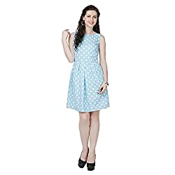 Eavan Women's Casual Wear Polka Cotton Dress