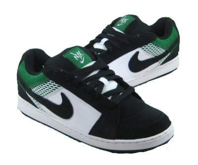 Nike NYX Dylan 2 Skateboard Shoes Black Green White-12