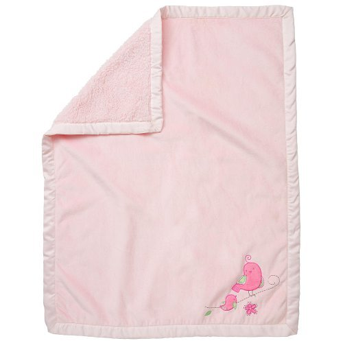 Girls' At First Flutter Crib Blanket - Pink - 1