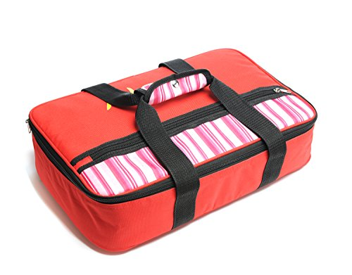 Insulated Casserole Carrier - Hot & Cold Food Keeper- 16.5 x 4.2 x 10.5 inches -  600D Polyester and 10mm EPE Foam with Aluminum Coating (Baking Dish Insulated compare prices)
