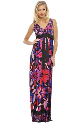 "The Olian ""Nicole"" Floral Print Maxi Dress"