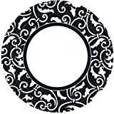 Amscan International Paper Plates 22.8 cm Ornamental Scroll Jet, Pack of 8, Black