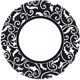 Amscan International Paper Plates 22.8 cm Ornamental Scroll Jet, Pack of 8, Black