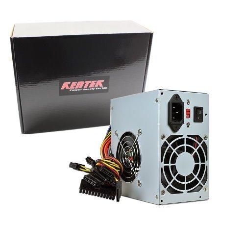 KENTEK 600 Watt 600W Dual Fan ATX Power Supply 12V SATA 20/24 PIN PCI EXPRESS PCI-E Intel AMD by KENTEK