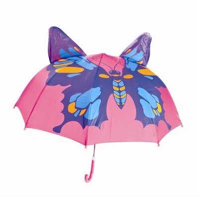 Kids Umbrella - Childrens 18 Inch Rainy Day Umbrella - Butterfly - 1
