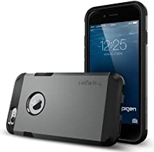 iPhone 6 Case, Spigen Tough Armor Case for iPhone 6 (4.7-Inch) - Retail Packaging - Gunmetal (SGP11022)