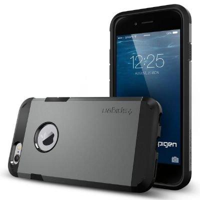 iPhone 6 ケース Spigen [エアクッションテクノロジー] Apple iPhone 4.7 (2014) タフ・アーマー (国内正規品) (ガンメタル SGP11022)