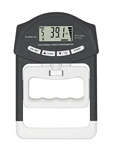【正規品】 Muscle★Project(マッスルプロジェクト) デジタル握力計 (握力 測定 計測 体力測定) 【電池付き / 前回の記録と分かり易い比較機能 / 1年間保証期間】