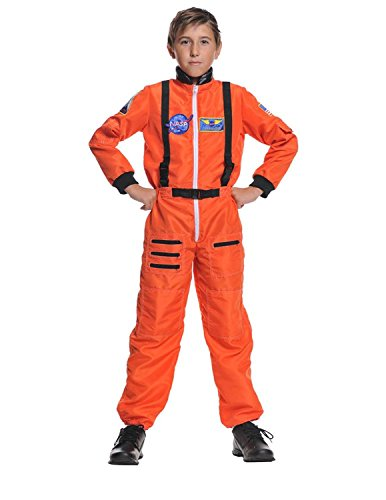 Baoer Astronaut Orange Child 10-12 Kids Boys Costume