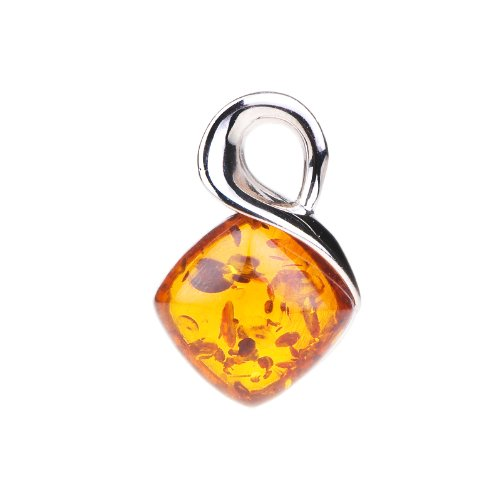 ANYA Amber Pendant in Sterling Silver