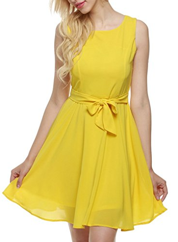OURS-Womens-Summer-Sleeveless-Chiffon-Pleated-Cocktail-Party-Dress-With-Belt-