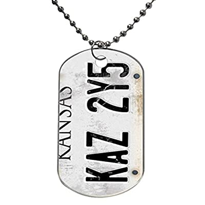 Personalized Vintage Supernatural License Plate Number Hard design personlized style dog tag pet tag Necklaces pendant Bead Chain, Dog Tag Size 1.3X2.2X0.1 inches in Diameter