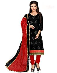 Modern lifestyle Embroidery work Festive Wear Cotton Black Un Stitched Branded Salwar Suit Dress Material for women girls ladies From Lookslady