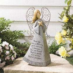 16u2033 GARDEN MEMORIAL ANGEL ~ GARDEN ACCENT ~ INDOOR OR OUTDOOR