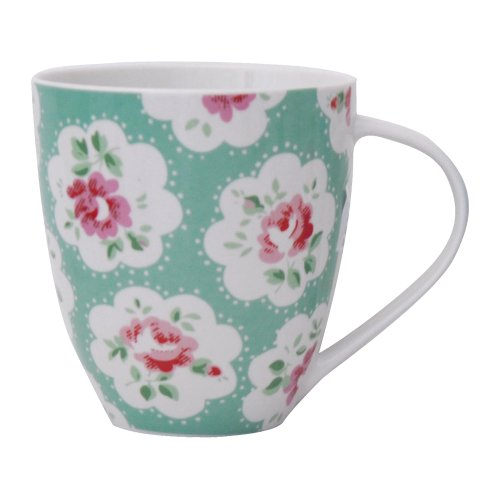Cath Kidston Provence Crush Mug, Fine China, Green