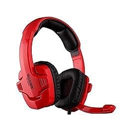 SADES MODEL: SA-901C Strong Bass LOL Cf Professional Gaming Computer Headphone with Mic Red