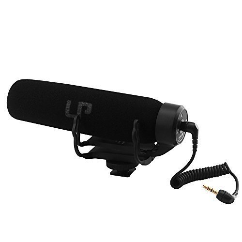 LP-MicVideomicVideoShotgun-Microphonefor-DV-CameraNikon-Cannon-etc-Best-Equipment-for-MVVideo-Shooting-lightweight-and-PortableNo-Battery-Noise-CancellingBlack