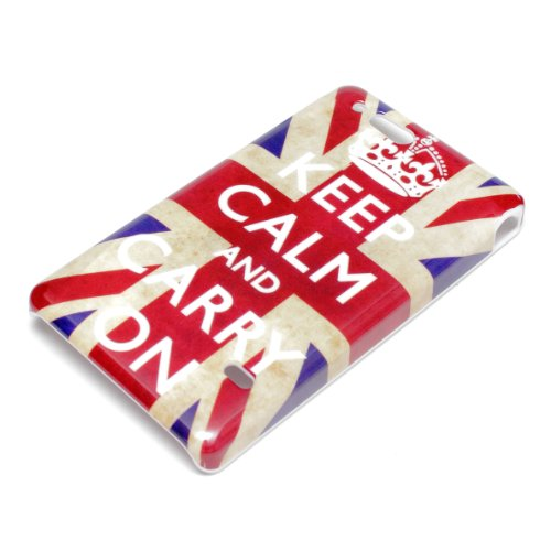 deinPhone Sony Xperia Miro ST23i HARDCASE Hülle Case Keep Calm and Carry On