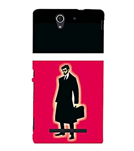 printtech Suit man Back Case Cover for Sony Xperia C3 Dual D2502::Sony Xperia C3 D2533