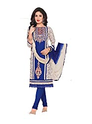 RK Fashion Womens Cotton Un-Stitched Salwar Suit Dupatta Material ( RAJGURU-PAHELI-9279-Blue-Free Size )