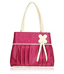 Fristo women's handbags (FRB-005) Pink and Cream