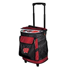 Wisconsin Badgers NCAA Rolling Cooler by Logo Chair