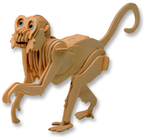 3-D Wooden Puzzle - Monkey -Affordable Gift for your Little One! Item #DCHI-WPZ-M009 - 1
