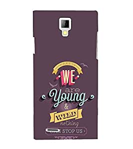 EPICCASE we are young Mobile Back Case Cover For Micromax Canvas Xpress A99 (Designer Case)