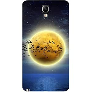 Casotec Moon ViewDesign Hard Back Case Cover for Samsung Galaxy Note 3 Neo