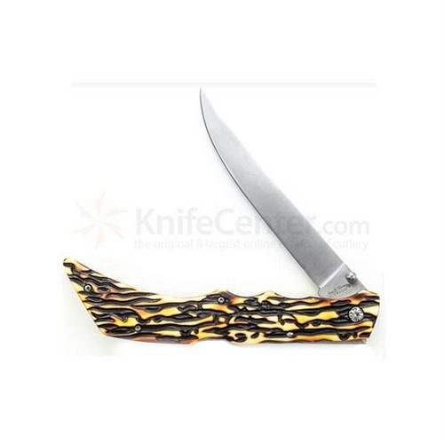 Uncle Henry 169UHCP 7Cr17MoV Steel Lockback Folding Fillet Knife with Nylon Sheath