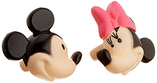 DecoPac Minnie and Mickey Mouse 24-Piece Decorative Cake Cupcake Ring Toppers, Pink/Black - 1