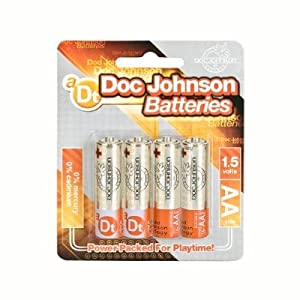 Gift Set of Doc Johnson AA Batteries (4) And Silver Bullet