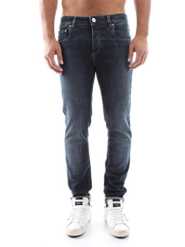 CAMOUFLAGE AR AND J. BE BETTER 17 FRI BLUE WASHED JEANS Uomo BLUE WASHED 38