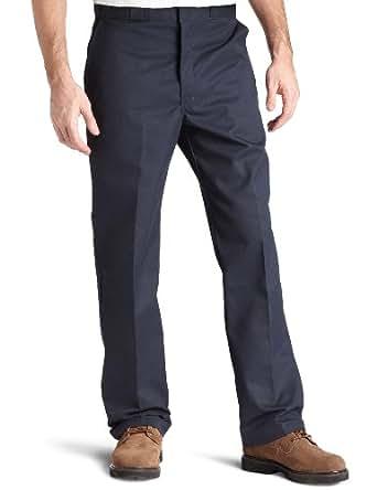 Dickies Men's Flat Front Multi Use Pocket Work Pant, Dark Navy, 30x30