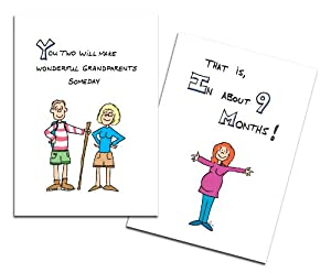 Dad's Castle Pregnancy Announcement - You're Going to Be Grandparents Card