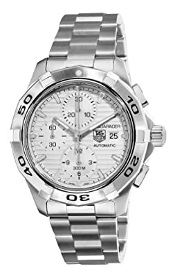 TAG Heuer Men's CAP2111.BA0833 Aquaracer Silver Chronograph Dial Watch