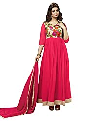 Madhav Fashion georgette Salwar Suit Dupatta Material in Pink