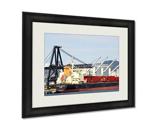ashley-framed-prints-bulk-carrier-hanjin-liverpool-docked-at-the-port-of-oakland-black-20x25-art