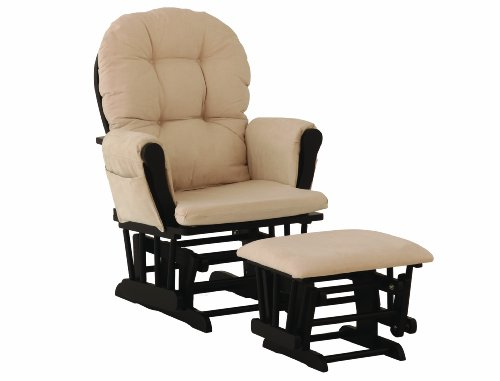 Review Of Stork Craft Hoop Glider and Ottoman Set, Black/Beige