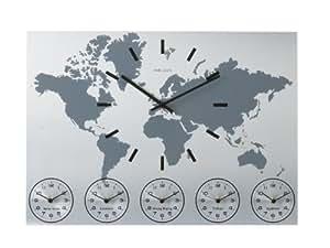 Karlsson Wall Clock Worldtime Aluminum