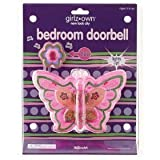 Butterfly Bedroom Doorbell girls kids children toy room battery operated door bell
