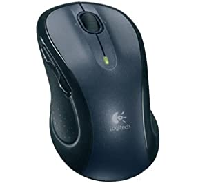 Logitech Wireless Mouse M510 - Souris - laser - 5 bouton(s) - 2.4 GHz - récepteur Unifiying sans fil USB - noir