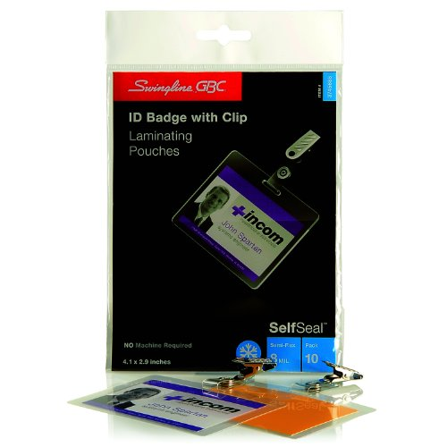Swingline gbc selfseal cold laminating pouches horizontal badge id 3745686 office supplies - Gbc office products group ...